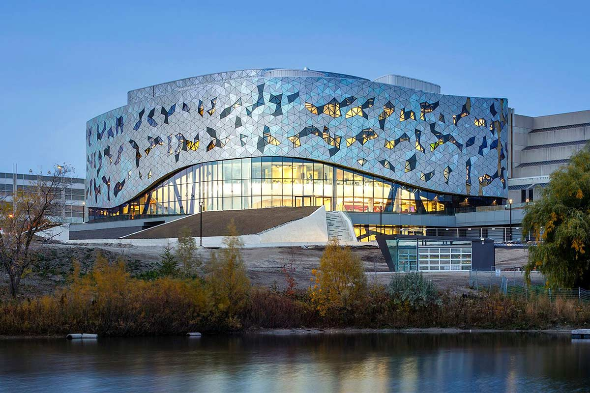 side view of the Bergeron Centre