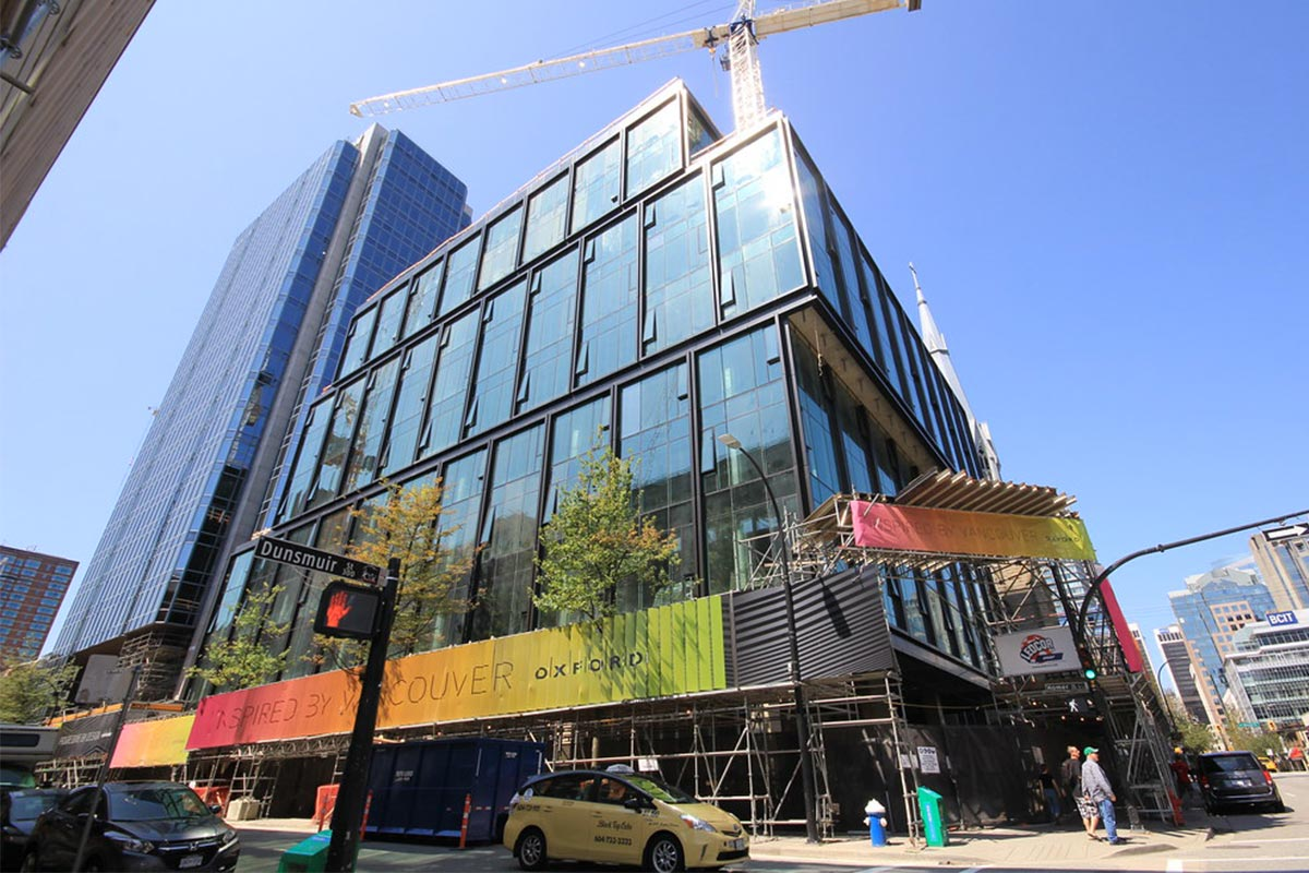 Amazons Vancouver offices under construction with APA's Triple Glazed Window System