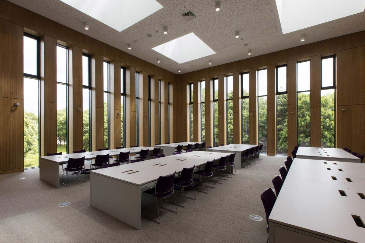 internal view of the work completed at the Glucksman Library in UL