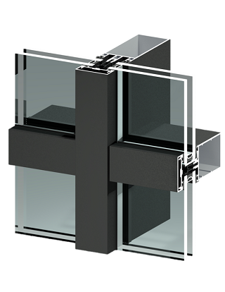 TB50 - stick curtain wall - storefronts