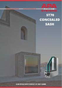 ST70 Concealed Sash Brochure