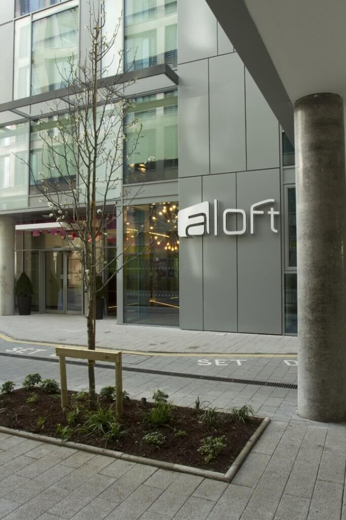 Aloft Hotel Entrance