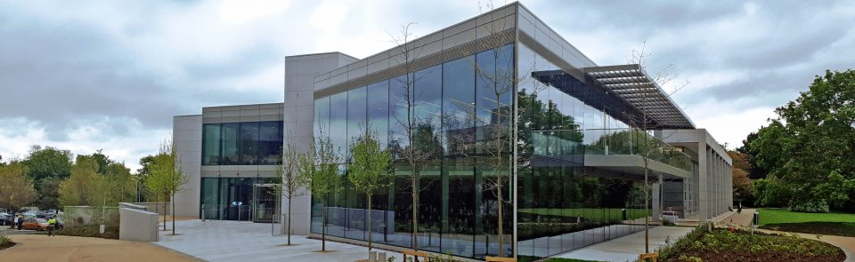 Large Glass Curtain Wall and louvers on University Building