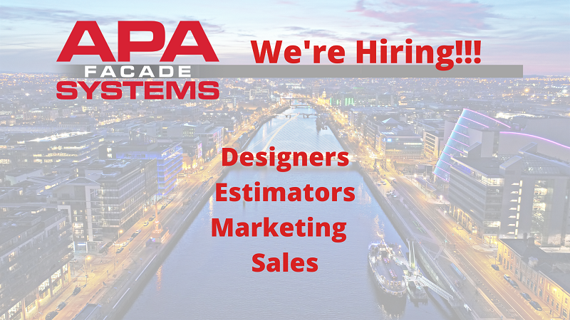 APA Facade Systems are hiring new staff